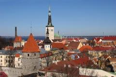 Vecchia città di Tallinn Fotografia Stock