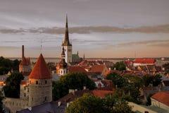 Vecchia città di Tallinn Immagini Stock