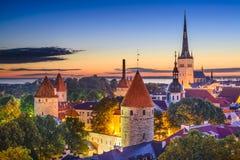 Vecchia città di Tallinn Estonia immagine stock