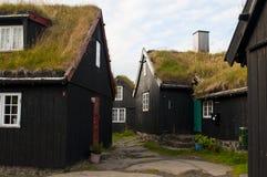 Vecchia città di Torshavn, isole faroe Fotografie Stock Libere da Diritti
