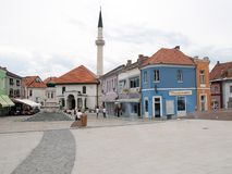 Vecchia città di Tuzla Immagine Stock Libera da Diritti