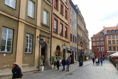 Vecchia città di Varsavia Immagine Stock