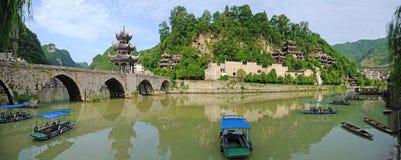 Vecchia città di Zhenyuan Immagini Stock