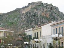 Vecchia città e vecchio castello immagini stock libere da diritti