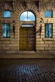 Vecchia città, entrata al luogo di nascita di Catherine The Great, Szczecin, Polonia fotografie stock libere da diritti