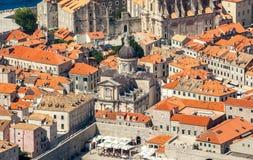 Vecchia città in Europa sulla costa del mare adriatico dubrovnik La Croazia Immagini Stock