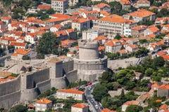 Vecchia città in Europa sulla costa del mare adriatico dubrovnik La Croazia Fotografia Stock