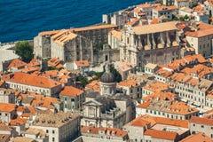 Vecchia città in Europa sulla costa del mare adriatico dubrovnik La Croazia Fotografie Stock