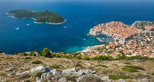 Vecchia città in Europa sulla costa del mare adriatico dubrovnik La Croazia Fotografia Stock Libera da Diritti