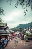 Vecchia città Giappone fotografie stock libere da diritti