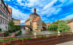 Vecchia città Hall Bamberg Immagini Stock Libere da Diritti