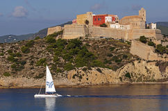 Vecchia città in Ibiza Fotografie Stock Libere da Diritti