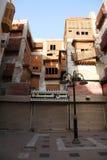 Vecchia città in Jedda, Arabia Saudita conosciuta come il ` storico di Jedda del ` Costruzioni e strade di eredità e vecchie in J immagine stock libera da diritti