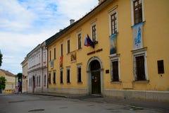 Vecchia città, Lucenec, Slovacchia Fotografia Stock