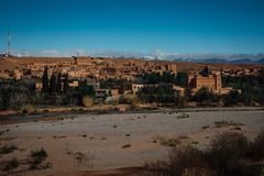 Vecchia città Marocco del deserto Immagini Stock