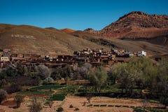 Vecchia città Marocco del deserto Fotografia Stock Libera da Diritti