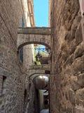 Vecchia città medioevale Fotografia Stock Libera da Diritti