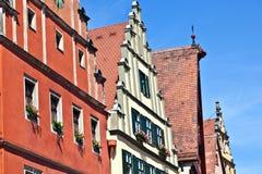 Vecchia città medioevale romantica famosa Fotografia Stock Libera da Diritti