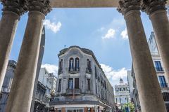 Vecchia città a Montevideo, Uruguay fotografia stock libera da diritti