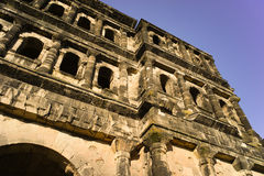 Vecchia città Mosella di Treviri del Nigra di Porta della costruzione romana Immagini Stock