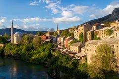 Vecchia città Mostar Fotografie Stock Libere da Diritti
