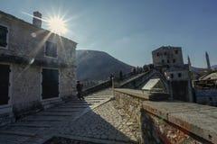 Vecchia città Mostar Immagini Stock Libere da Diritti