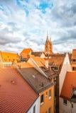 Vecchia città nella città di Nurnberg, Germania immagini stock