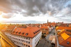 Vecchia città nella città di Nurnberg, Germania fotografia stock