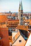Vecchia città nella città di Nurnberg, Germania fotografie stock