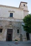 Vecchia città nella regione delle montagne dell'Abruzzo Immagini Stock Libere da Diritti