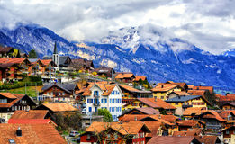 Vecchia città Oberried, Brienz, Interlaken, Svizzera Fotografia Stock