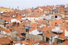 Vecchia città Piran Immagine Stock