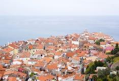 Vecchia città Piran Fotografia Stock Libera da Diritti