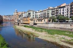 Vecchia città pittoresca di Girona, Spagna Fotografia Stock Libera da Diritti