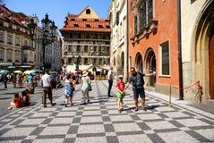 Vecchia città a Praga Fotografia Stock Libera da Diritti