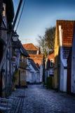 Vecchia città Ribe in Danimarca immagine stock