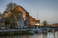 Vecchia città Ribe in Danimarca fotografie stock