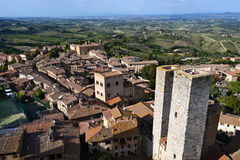 Vecchia città San Gimignano, Italia immagini stock