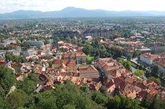 Vecchia città in Slovenia Immagine Stock Libera da Diritti