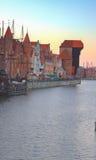 Vecchia città sopra acqua, Danzica Fotografia Stock