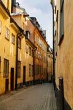 Vecchia città, Stoccolma Immagine Stock