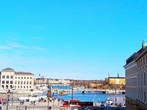 Vecchia città Stoccolma Sverige Europa immagini stock
