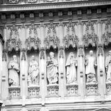 vecchia città storica della statua e del marmo di Londra Inghilterra immagini stock