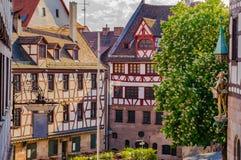 Vecchia città storica di Norimberga, Baviera della Germania fotografia stock
