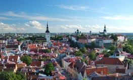 Vecchia città a Tallinn Fotografia Stock Libera da Diritti