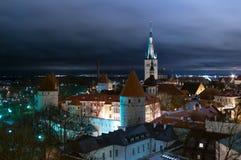 Vecchia città Tallinn Fotografia Stock