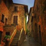 Vecchia città in Toscana Fotografia Stock Libera da Diritti