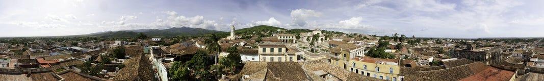 Vecchia città un panorama di 360 gradi Immagine Stock