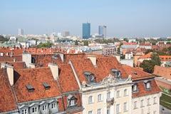Vecchia città a Varsavia. Fotografie Stock