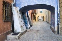 Vecchia città a Varsavia Immagini Stock